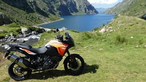 un essai KTM de moto pyrénées