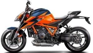 Le KTM Superduke version 2020 V3 en couleur orange