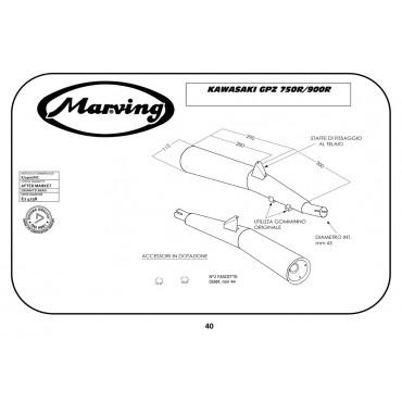Exhaust Moto Marving Kawasaki Gpz 750 R K/2900/NC Pair