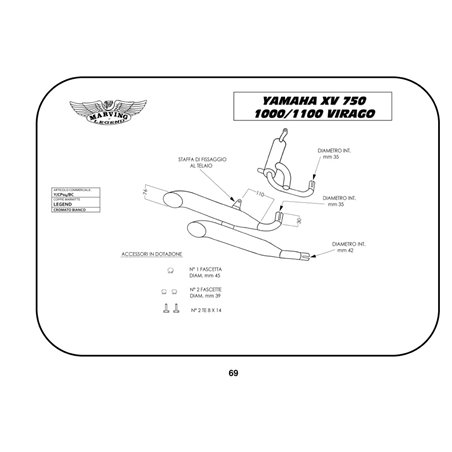 Echappement Moto Marving Yamaha Xv 1100 Virago Y/CP04/BC