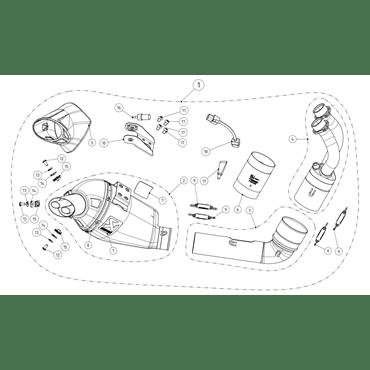 Motorrad Auspuff Akrapovic Yamaha Tracer 700 S-Y7R8-HEGEHT