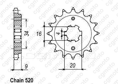 Kit chaine Yamaha Yfs 200 Blaster / Moto.fr : Pièces
