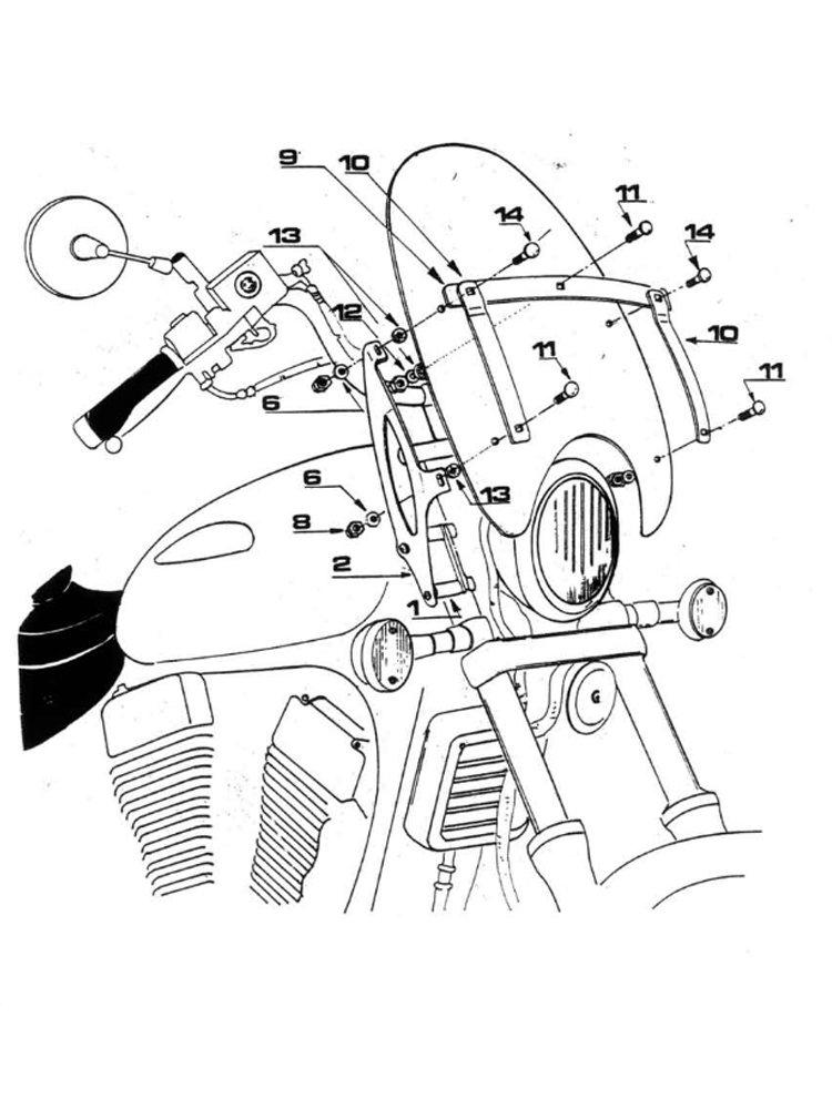 Fitting kit GIVI for A23 and A35N screens Honda/ Kawasaki