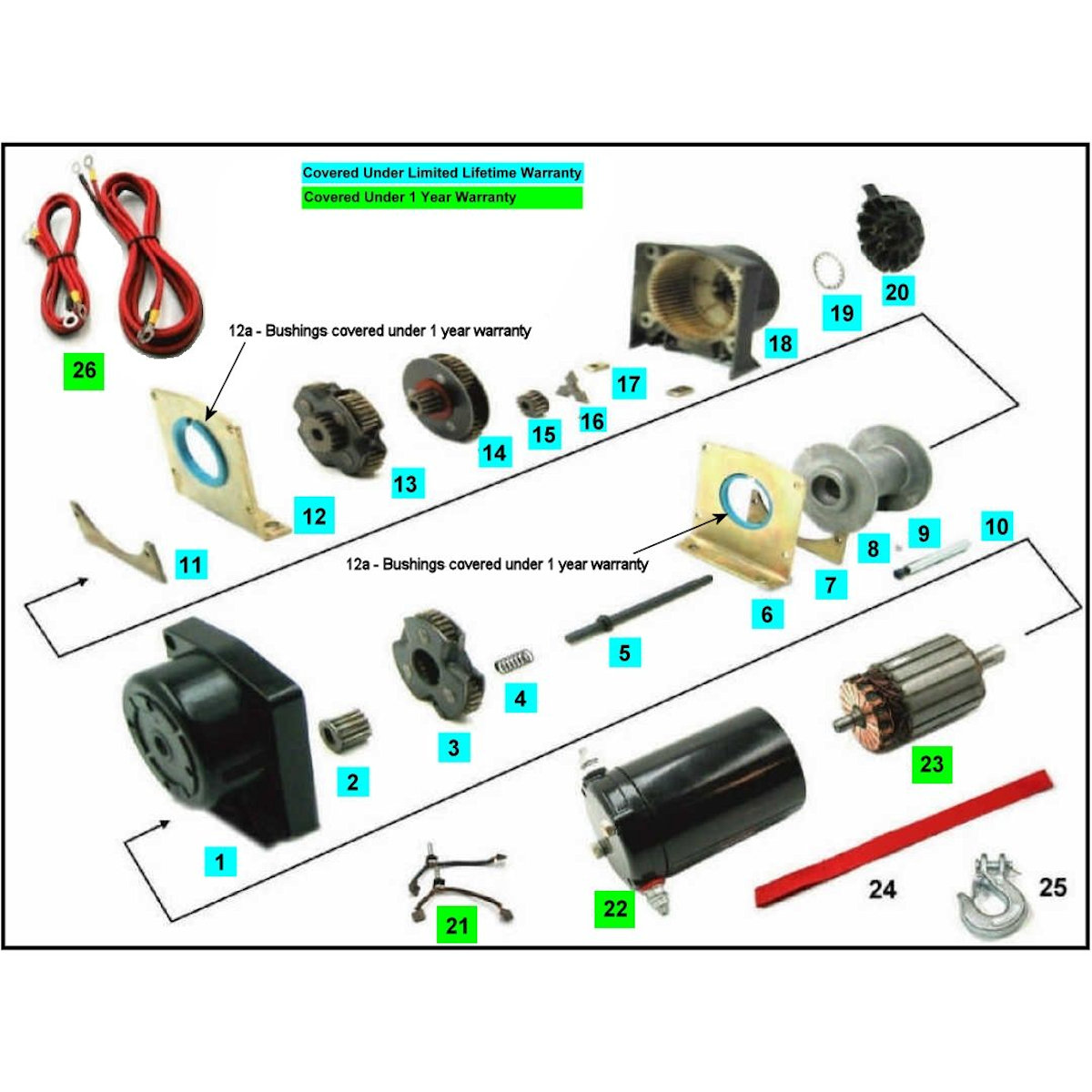 hight resolution of viper winches replacement parts construction winch diagram atv winch diagram