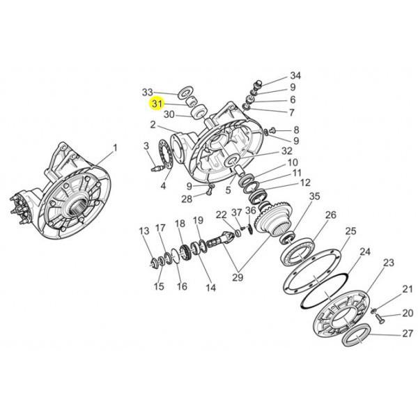 Bague sur Axe Roue Moto Guzzi GU92259025 en vente chez