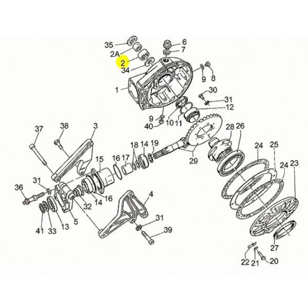Cage Aiguille sur Axe de Roue Moto Guzzi GU92252225 en