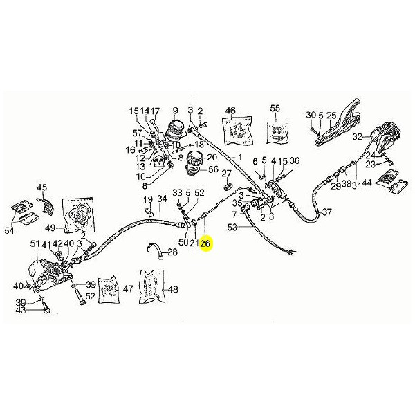 Durite Frein Rigide Moto Guzzi GU17658750 en vente chez