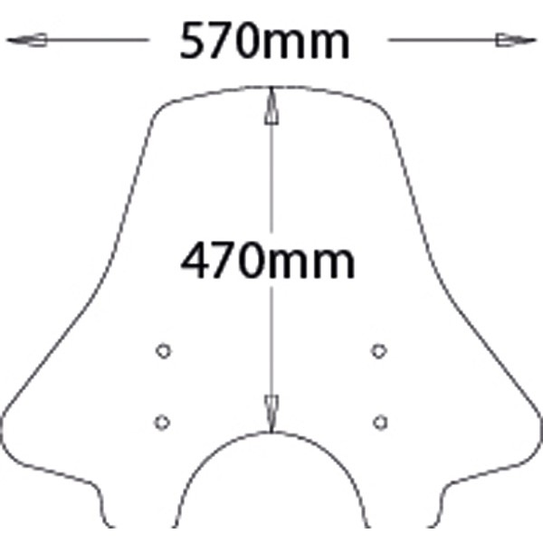 Pare-brise Complet Haut Breva 850-1100-1200 Isotta SC58 en