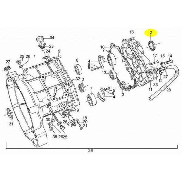 Joint Spy Sortie Boite de Vitesses 850-1000-1100 Moto