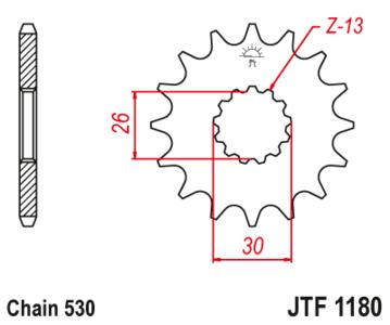 Zębatka przód 18Z JTF1180.18 Triumph Daytona 955i Speed