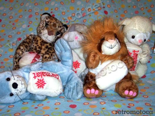 onça, rinoceronte, leão, ovelha e foca