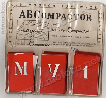 letras estêncil compactor