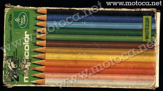 lápis de cor multicolor