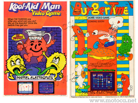 anuncio jogos mattel