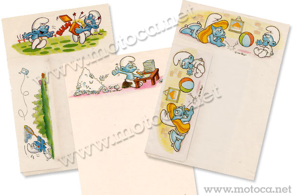 papel smurfs