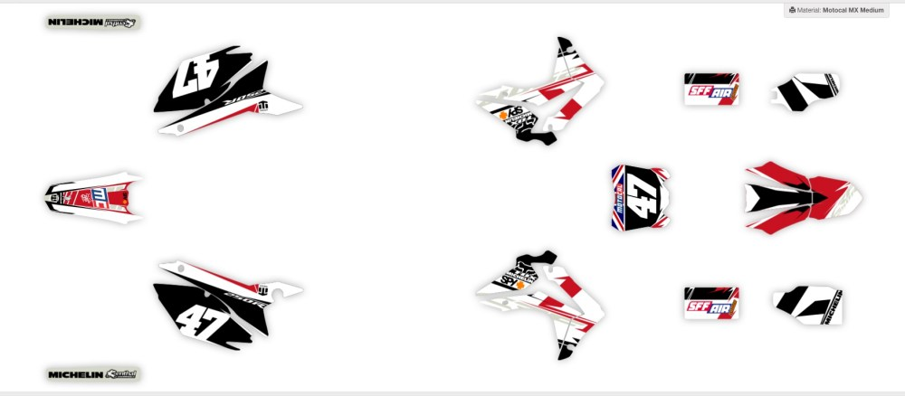 medium resolution of check out a selection of ready made graphics kits on motocal for honda bikes