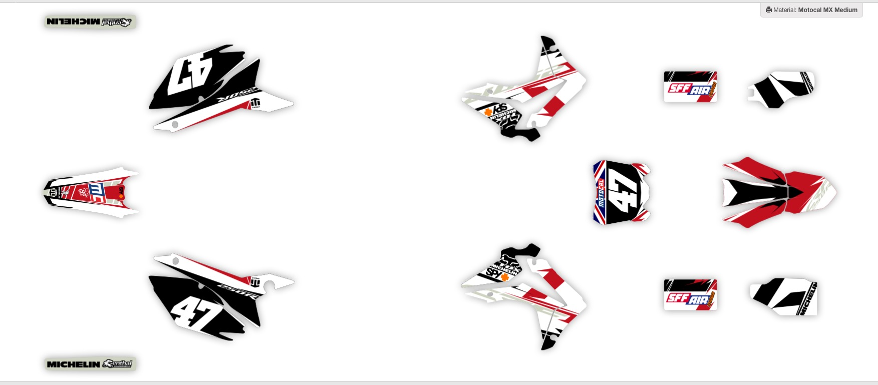 hight resolution of check out a selection of ready made graphics kits on motocal for honda bikes