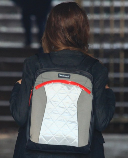 lauren sport backpack vegan convertible tote gray