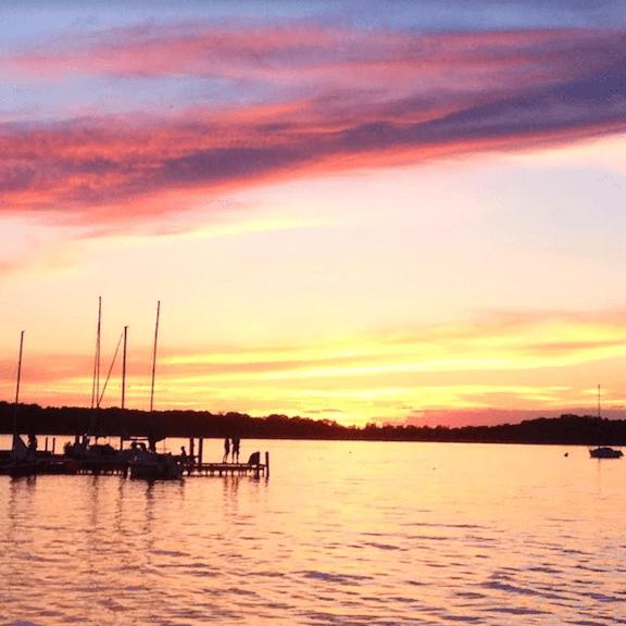 Jane at Michigan lake