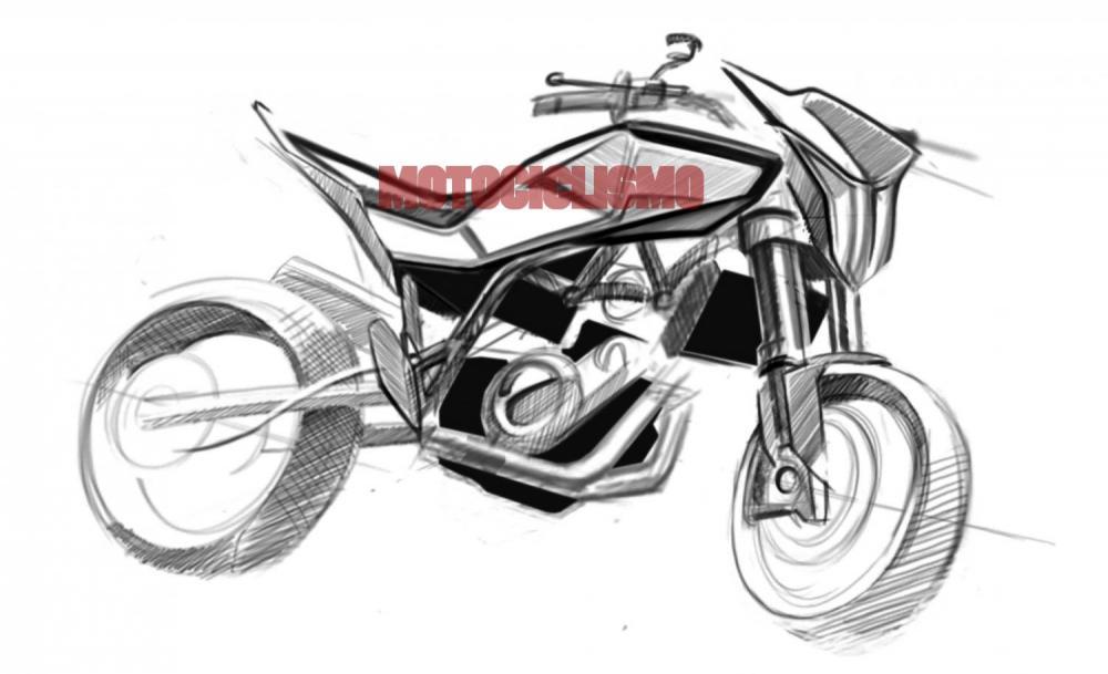 Husqvarna 900 2012: i bozzetti e il motore della nuova