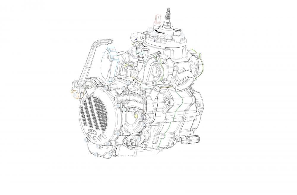 KTM EXC 300 2018: motore 2T a iniezione elettronica