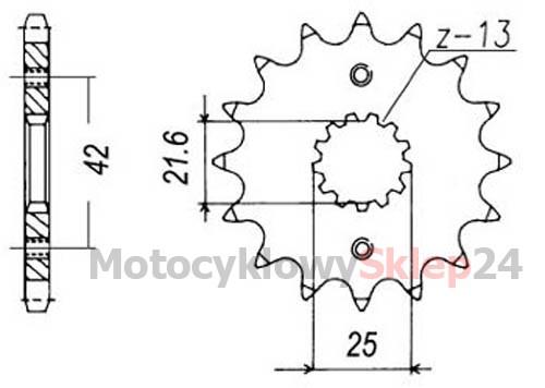 ZĘBATKA PRZEDNIA DO GSXR 750 92-95r. • Sklep Motocyklowy 24