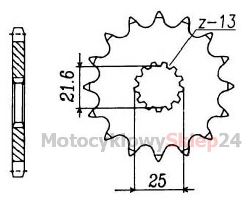 ZESTAW NAPĘDOWY DO: SUZUKI DL 650 V-STROM 04-06r. • Sklep