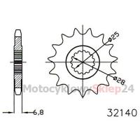 ZĘBATKA PRZEDNIA DO DT 125 R/RE 90-06r. • Sklep Motocyklowy 24