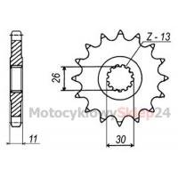 ZĘBATKA PRZEDNIA DO XT 350 85-95r. • Sklep Motocyklowy 24
