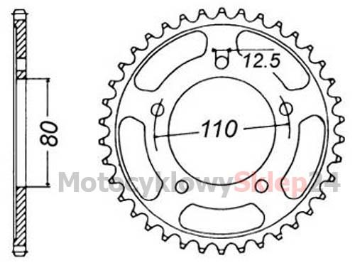 ZĘBATKA TYLNA DO TIGER 900 91-00r. • Sklep Motocyklowy 24