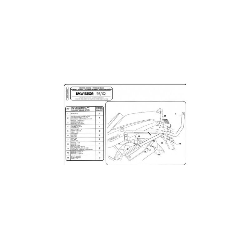 KAPPA K6350 NOSIČ ZADNÍHO KUFRU BMW R850R,R1100R 95-02