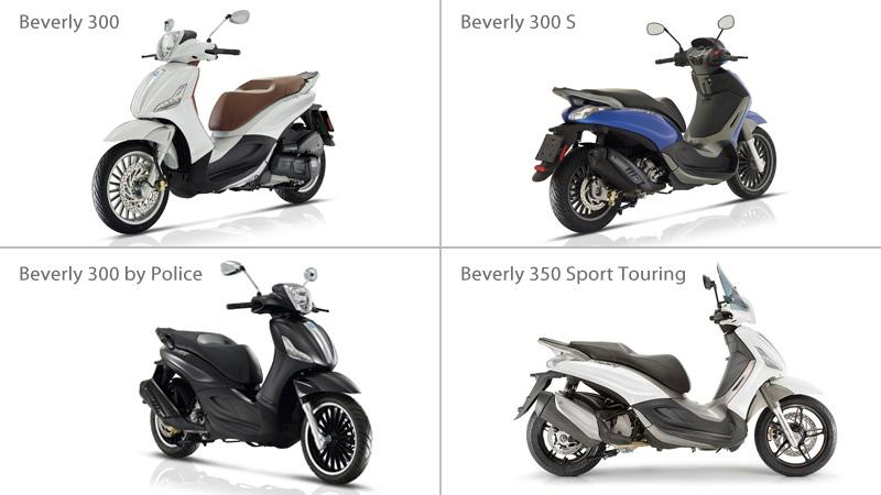 Nuevos Piaggio Beverly: motorizaciones Euro4 con ABS y ASR