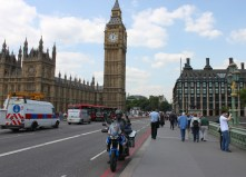 The start of the trip, central London and Big Ben behind me