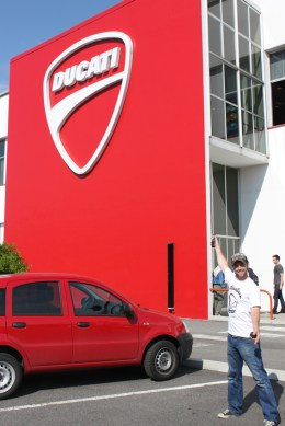 In Bolonga, Italy and at the famous Ducati Factory - let's go inside!!