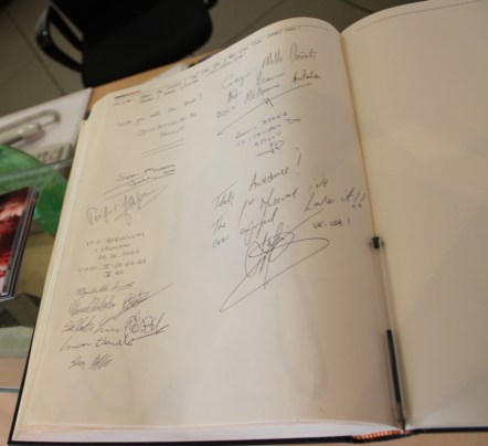 My entry and many others before me leave their scribble and happy memories in the museum book