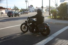 Another biker on the road