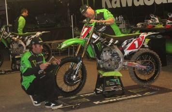 Ryan Villopoto's victorious Kawasaki KX450F