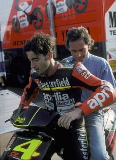 Max with Barry Sheene 1994