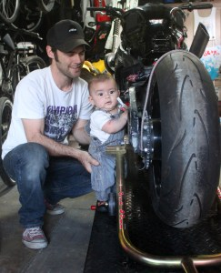 Back home and in my garage - now I'm getting my mechanical advise from Giacomo