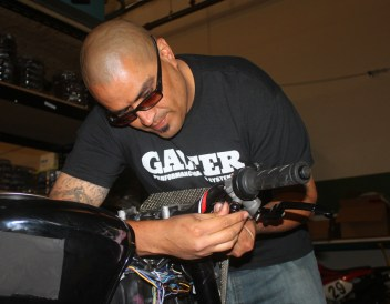 Robert at Galfer fits a new Accossato master cyclinder and lever