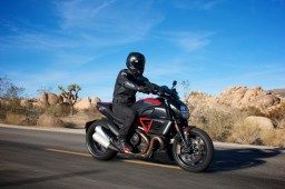 A gorgeous day on the Ducati Diavel