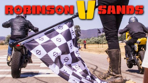EPIC RACE! Robinson V Sands / MotoGeo Onboard