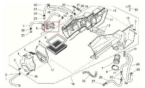 Manicotto aspirazione per Moto Guzzi V7 Classic-Cafè