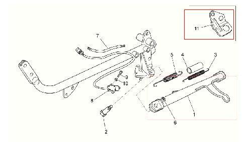Piastra cavalletto laterale per Moto Guzzi V7 Classic-Cafè