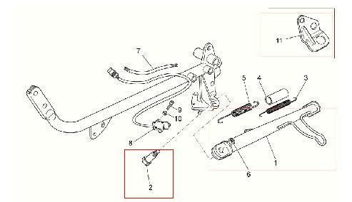 Vite cavalletto laterale per Moto Guzzi V7 Classic, V7 Cafè