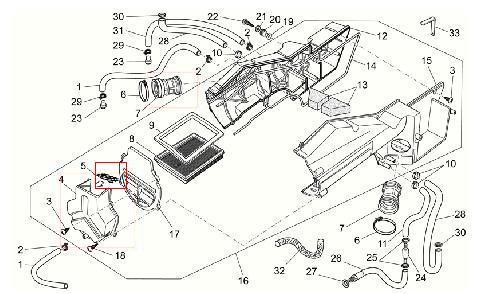 Rete cassa filtro aria per Moto Guzzi Breva 750, Nevada IE