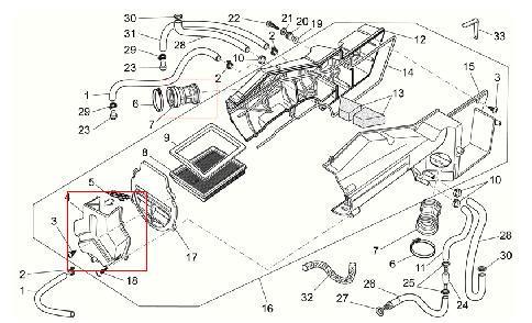 Coperchio filtro aria per Moto Guzzi Breva 750, Nevada IE