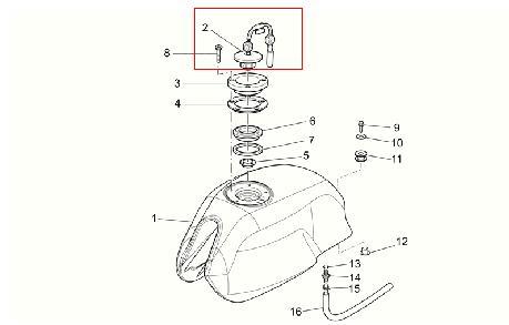 Tappo serbatoio benzina originale per Moto Guzzi V7