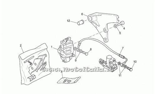Pinza freno posteriore Moto Guzzi per CALIFORNIA Modello