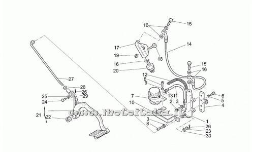 Pompa freno posteriore Moto Guzzi per CALIFORNIA Modello